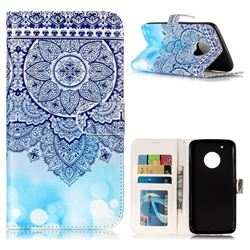 Totem Flower 3D Relief Oil PU Leather Wallet Case for Motorola Moto G5 Plus