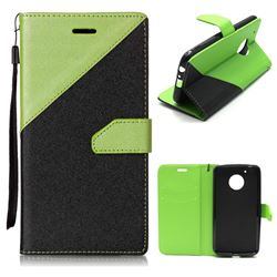 info for 79a58 985e3 Dual Color Gold-Sand Leather Wallet Case for Motorola Moto G5 Plus ...