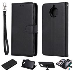 Retro Greek Detachable Magnetic PU Leather Wallet Phone Case for Motorola Moto G5 Plus - Black