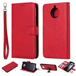 Retro Greek Detachable Magnetic PU Leather Wallet Phone Case for Motorola Moto G5 Plus - Red