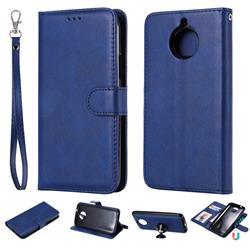 Retro Greek Detachable Magnetic PU Leather Wallet Phone Case for Motorola Moto G5 Plus - Blue