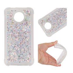 Dynamic Liquid Glitter Sand Quicksand Star TPU Case for Motorola Moto G5S - Silver