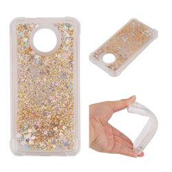 Dynamic Liquid Glitter Sand Quicksand Star TPU Case for Motorola Moto G5S - Diamond Gold