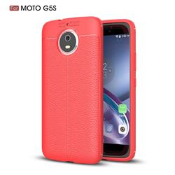 Luxury Auto Focus Litchi Texture Silicone TPU Back Cover for Motorola Moto G5S - Red