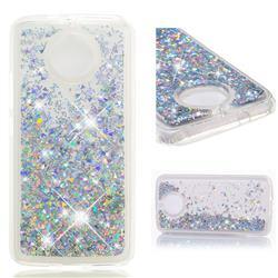 Dynamic Liquid Glitter Quicksand Sequins TPU Phone Case for Motorola Moto G5S - Silver