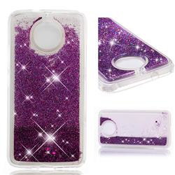Dynamic Liquid Glitter Quicksand Sequins TPU Phone Case for Motorola Moto G5S - Purple