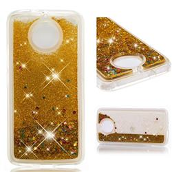 Dynamic Liquid Glitter Quicksand Sequins TPU Phone Case for Motorola Moto G5S - Golden