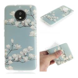 Magnolia Flower IMD Soft TPU Cell Phone Back Cover for Motorola Moto G5S