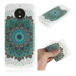 Peacock Mandala IMD Soft TPU Cell Phone Back Cover for Motorola Moto G5S