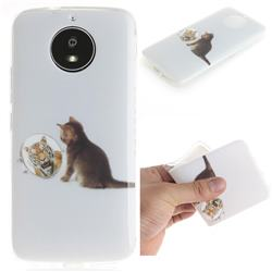 Cat and Tiger IMD Soft TPU Cell Phone Back Cover for Motorola Moto G5S