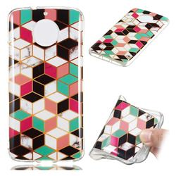 Three-dimensional Square Soft TPU Marble Pattern Phone Case for Motorola Moto G5S
