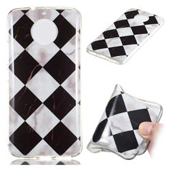 Black and White Matching Soft TPU Marble Pattern Phone Case for Motorola Moto G5S