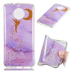 Elf Purple Soft TPU Marble Pattern Phone Case for Motorola Moto G5S