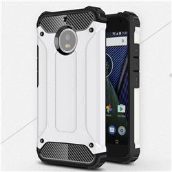 King Kong Armor Premium Shockproof Dual Layer Rugged Hard Cover for Motorola Moto G5S - White