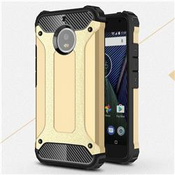 King Kong Armor Premium Shockproof Dual Layer Rugged Hard Cover for Motorola Moto G5S - Champagne Gold