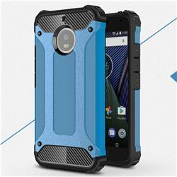 King Kong Armor Premium Shockproof Dual Layer Rugged Hard Cover for Motorola Moto G5S - Sky Blue