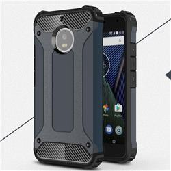 King Kong Armor Premium Shockproof Dual Layer Rugged Hard Cover for Motorola Moto G5S - Navy