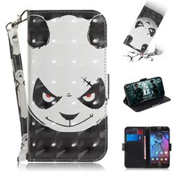 Angry Bear 3D Painted Leather Wallet Phone Case for Motorola Moto G5S