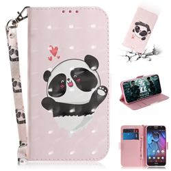 Heart Cat 3D Painted Leather Wallet Phone Case for Motorola Moto G5S