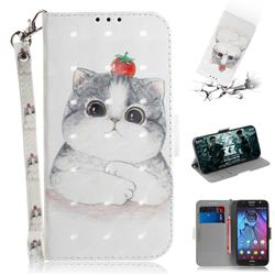 Cute Tomato Cat 3D Painted Leather Wallet Phone Case for Motorola Moto G5S