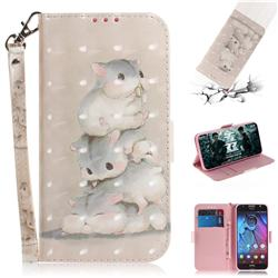 Three Squirrels 3D Painted Leather Wallet Phone Case for Motorola Moto G5S