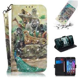 Beast Zoo 3D Painted Leather Wallet Phone Case for Motorola Moto G5S