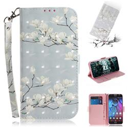 Magnolia Flower 3D Painted Leather Wallet Phone Case for Motorola Moto G5S