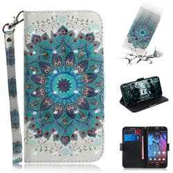 Peacock Mandala 3D Painted Leather Wallet Phone Case for Motorola Moto G5S