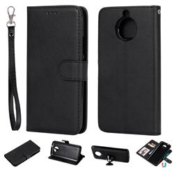 Retro Greek Detachable Magnetic PU Leather Wallet Phone Case for Motorola Moto G5S - Black