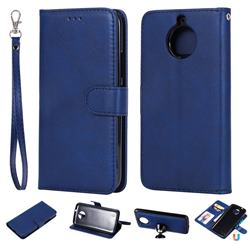 Retro Greek Detachable Magnetic PU Leather Wallet Phone Case for Motorola Moto G5S - Blue