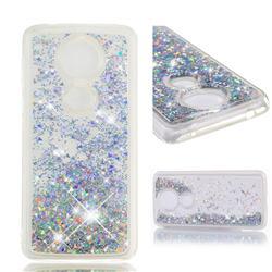Dynamic Liquid Glitter Quicksand Sequins TPU Phone Case for Motorola Moto G5S Plus - Silver