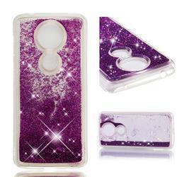 Dynamic Liquid Glitter Quicksand Sequins TPU Phone Case for Motorola Moto G5S Plus - Purple