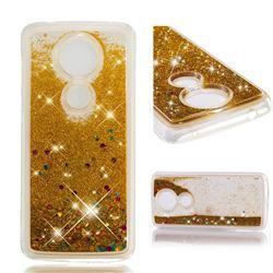 Dynamic Liquid Glitter Quicksand Sequins TPU Phone Case for Motorola Moto G5S Plus - Golden