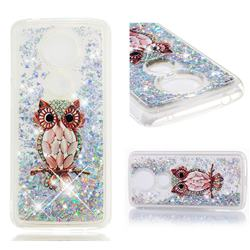 Seashell Owl Dynamic Liquid Glitter Quicksand Soft TPU Case for Motorola Moto G5S Plus
