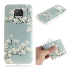 Magnolia Flower IMD Soft TPU Cell Phone Back Cover for Motorola Moto G5S Plus