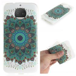 Peacock Mandala IMD Soft TPU Cell Phone Back Cover for Motorola Moto G5S Plus