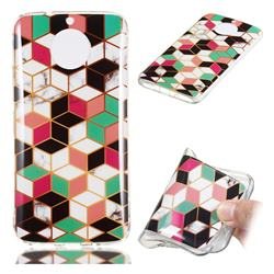 Three-dimensional Square Soft TPU Marble Pattern Phone Case for Motorola Moto G5S Plus