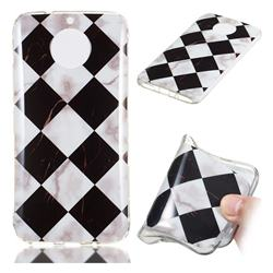 Black and White Matching Soft TPU Marble Pattern Phone Case for Motorola Moto G5S Plus