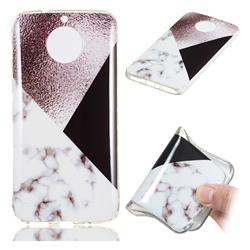 Black white Grey Soft TPU Marble Pattern Phone Case for Motorola Moto G5S Plus