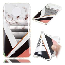 Pinstripe Soft TPU Marble Pattern Phone Case for Motorola Moto G5S Plus