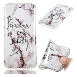 Forever Soft TPU Marble Pattern Phone Case for Motorola Moto G5S Plus