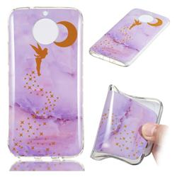 Elf Purple Soft TPU Marble Pattern Phone Case for Motorola Moto G5S Plus