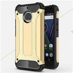 King Kong Armor Premium Shockproof Dual Layer Rugged Hard Cover for Motorola Moto G5S Plus - Champagne Gold