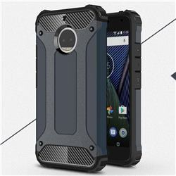 King Kong Armor Premium Shockproof Dual Layer Rugged Hard Cover for Motorola Moto G5S Plus - Navy