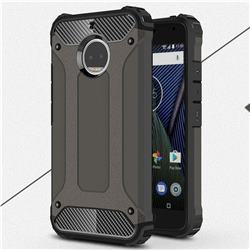 King Kong Armor Premium Shockproof Dual Layer Rugged Hard Cover for Motorola Moto G5S Plus - Bronze