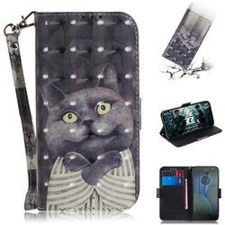Cat Embrace 3D Painted Leather Wallet Phone Case for Motorola Moto G5S Plus
