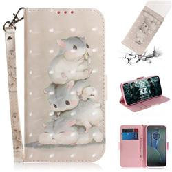 Three Squirrels 3D Painted Leather Wallet Phone Case for Motorola Moto G5S Plus