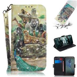 Beast Zoo 3D Painted Leather Wallet Phone Case for Motorola Moto G5S Plus