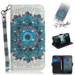 Peacock Mandala 3D Painted Leather Wallet Phone Case for Motorola Moto G5S Plus