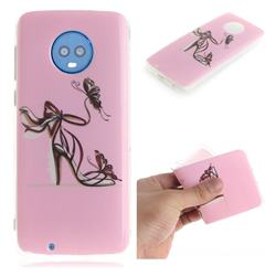 Butterfly High Heels IMD Soft TPU Cell Phone Back Cover for Motorola Moto G6